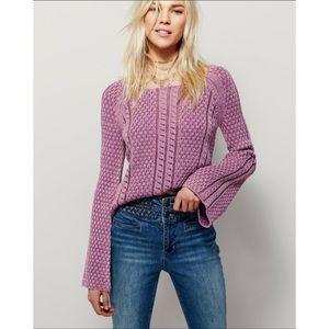 Free People Emma Bell Sweater In Purple